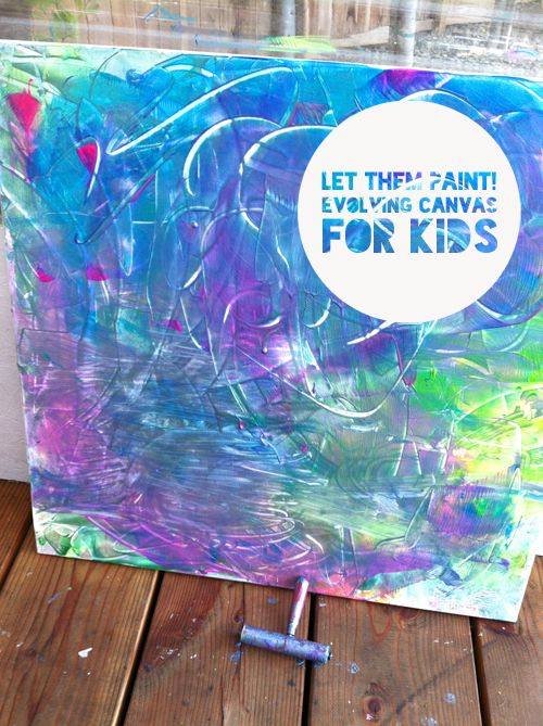Evolving Paint Canvas For Kids