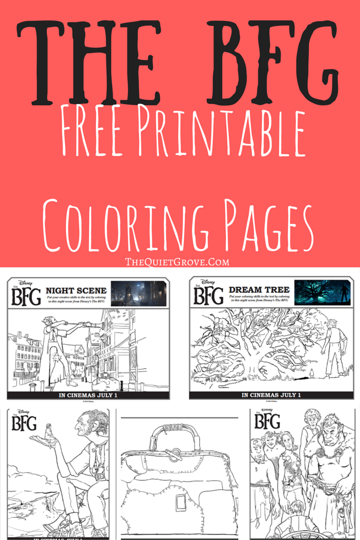 FREE Pritable BFG Coloring pages and Activity Sheets | Pinterest ...