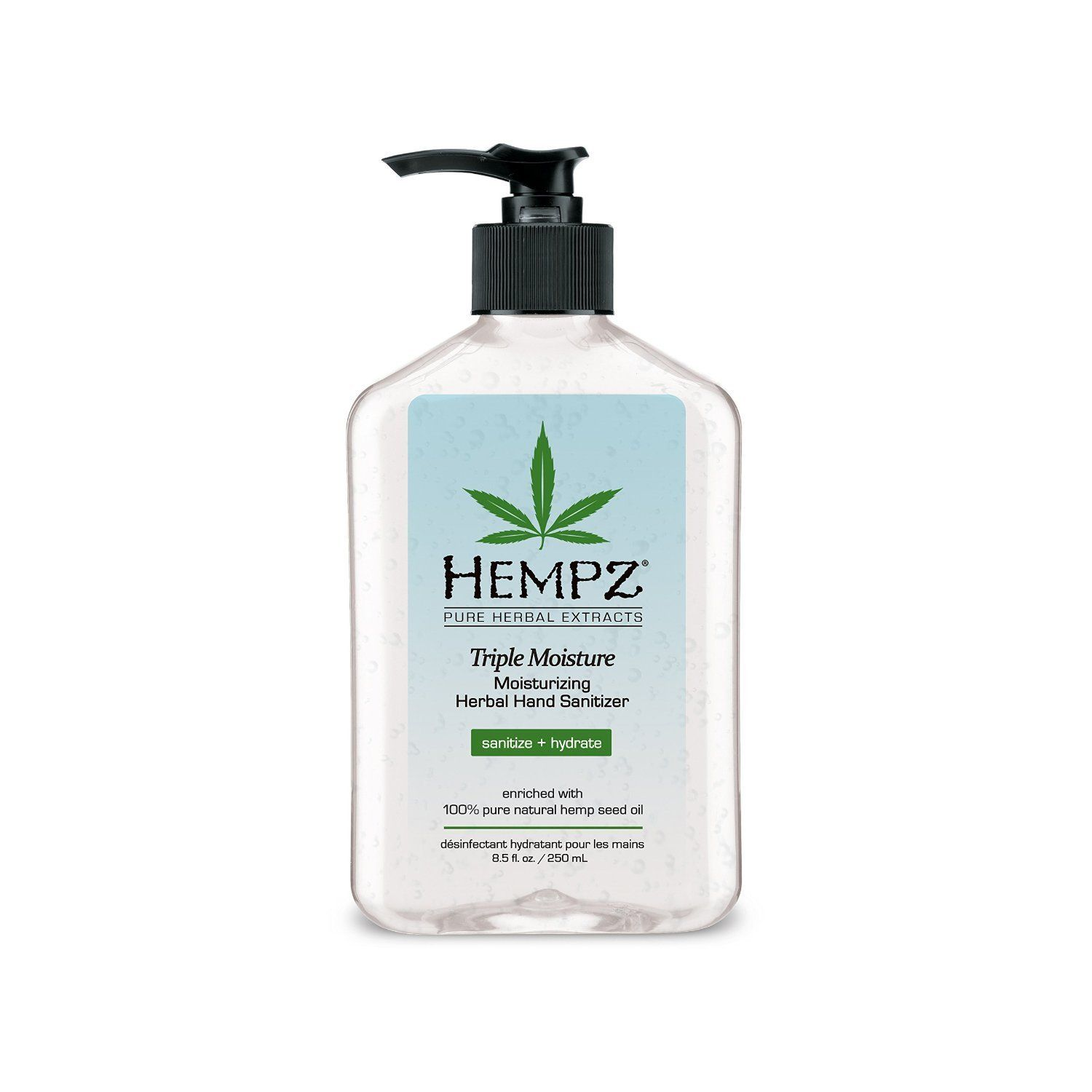 Hempz Sanitizer Moisturizing Herbal Hand Sanitizer 8 5 Ounce 8 5