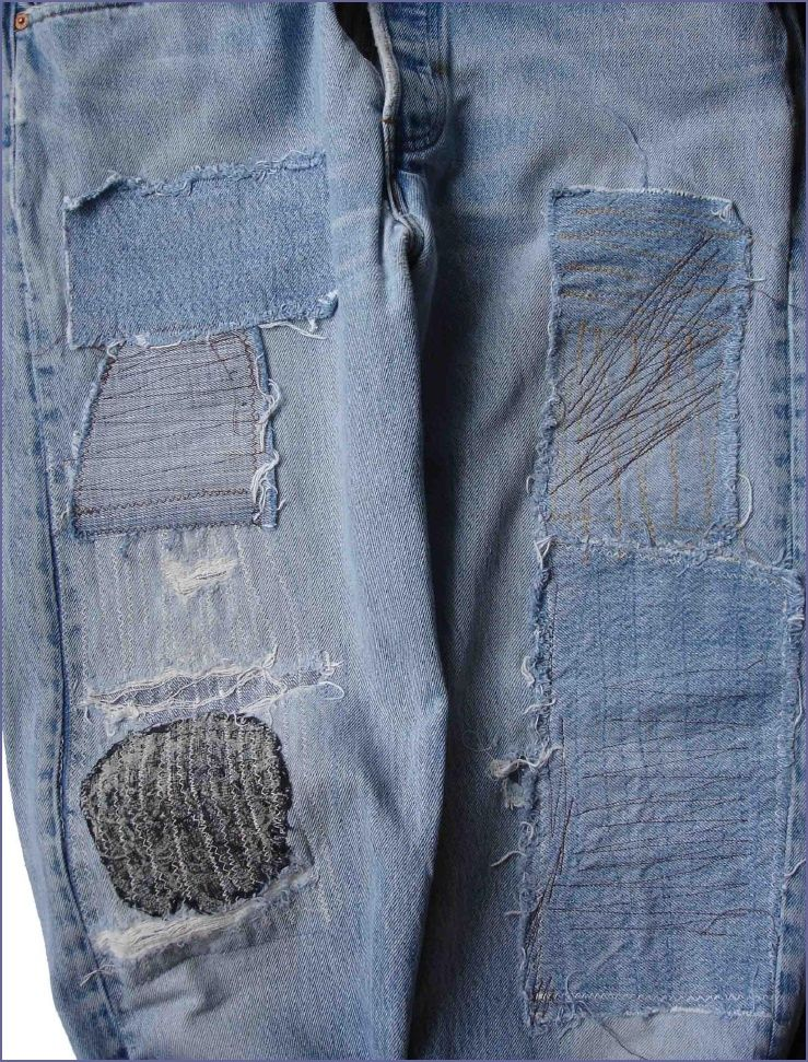 how to patch your jeans with style