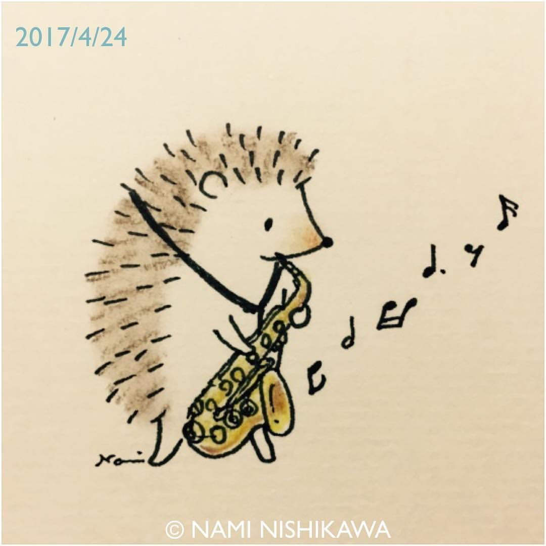 1156 アルトサックス Altosaxophone Saxophone Sax Illustration