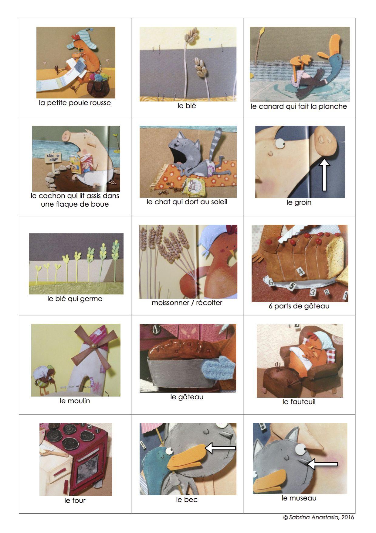 La Petite Poule Rousse Images Séquentielles : petite, poule, rousse, images, séquentielles, Petite, Poule, Rousse,, Pierre, Delye:, Cartes, Pouvant, Servir, Mémory, Cadre, L'apprentissage, No…