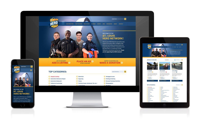 Stl Hero Network Responsive Website Website Branding Branding Website Design