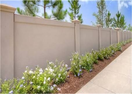 Pin By Stevenlemmy On Fm Block In 2020 Concrete Fence Concrete Fence Wall Front Wall Design