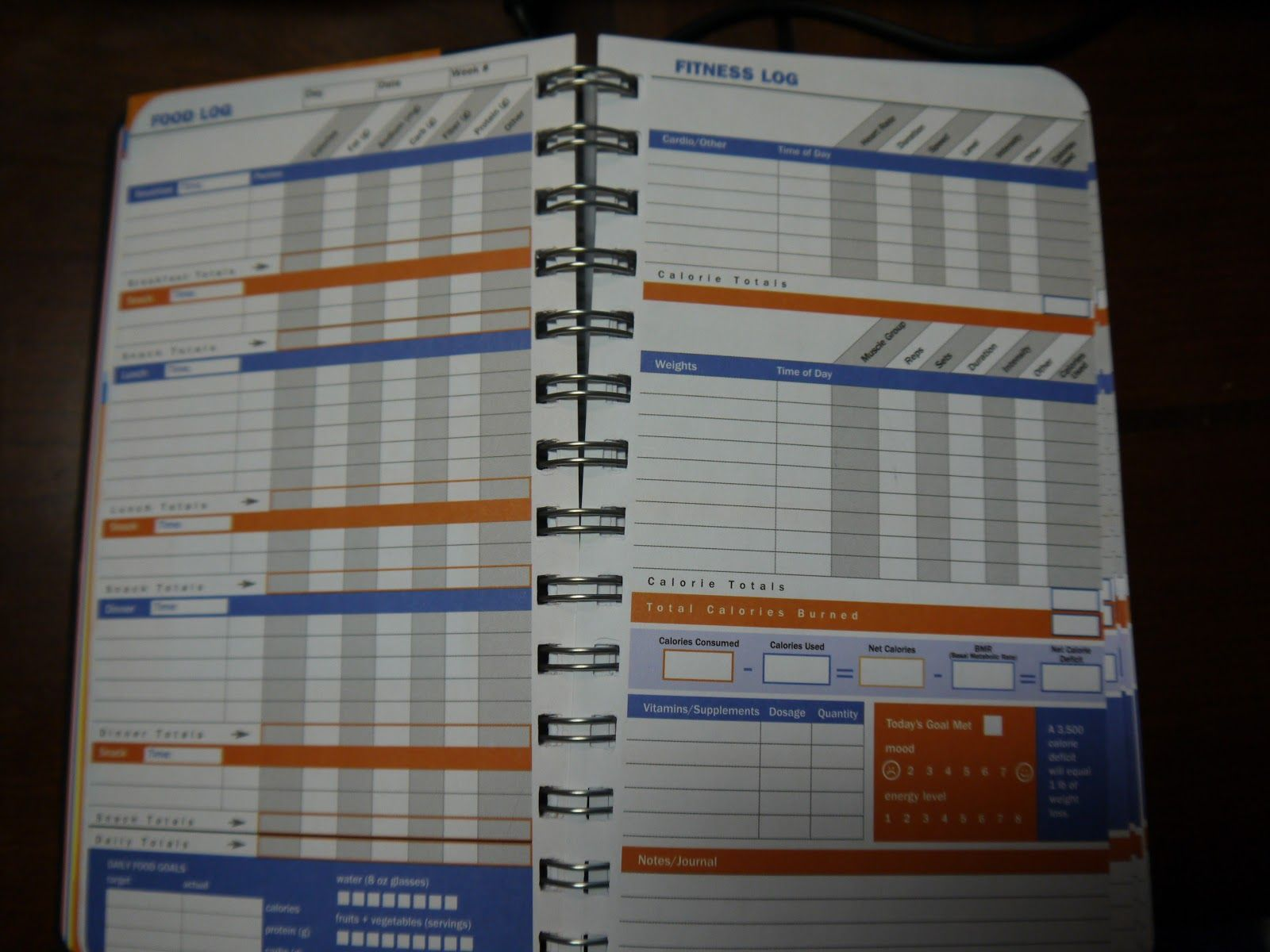 diet and fitness journal
