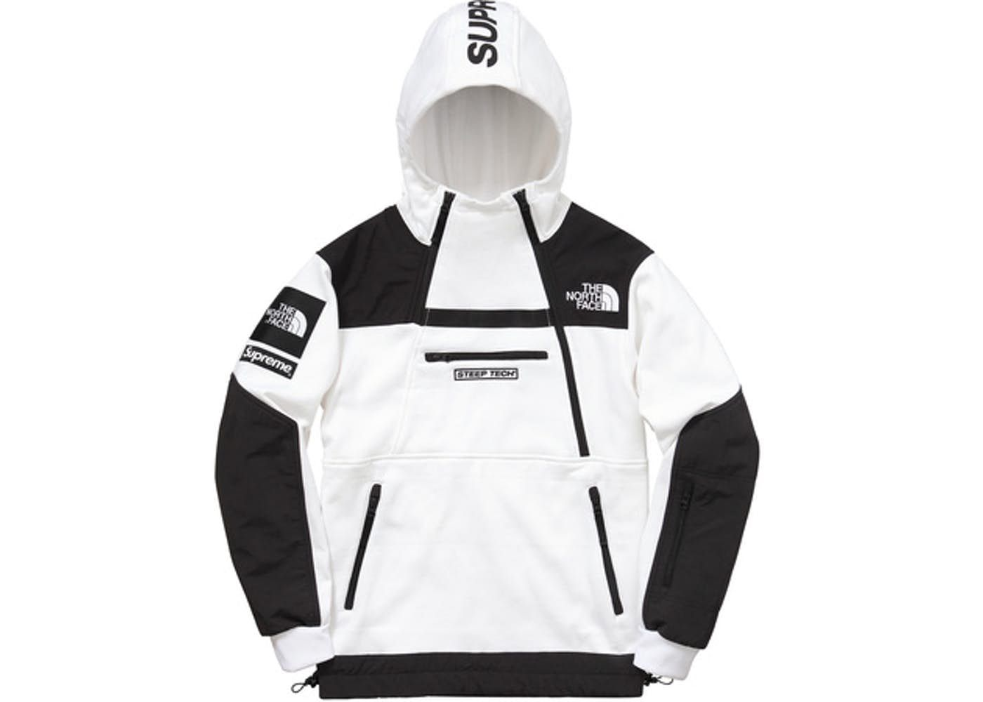 798b3822 Check out the Supreme The North Face Steep Tech Hooded Sweatshirt White  available on StockX
