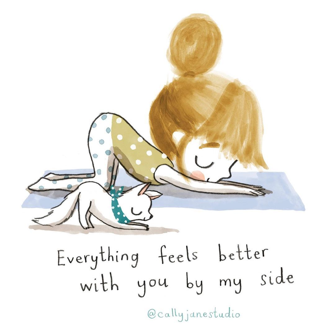 """Cally Johnson-Isaacs on Instagram: """"💙I'm here for you💙 #callyjaneyogagirl #puppypose #puppylove #yoga #yogainspiration #yogalove #yogspiration #yogisofinstagram #bestfriends…"""""""