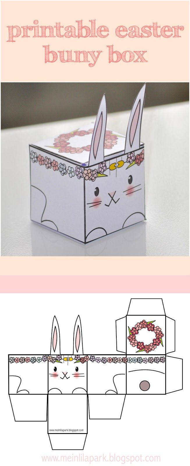 Free printable easter bunny box template velikonoce omalovanky free printable easter bunny box template negle Image collections
