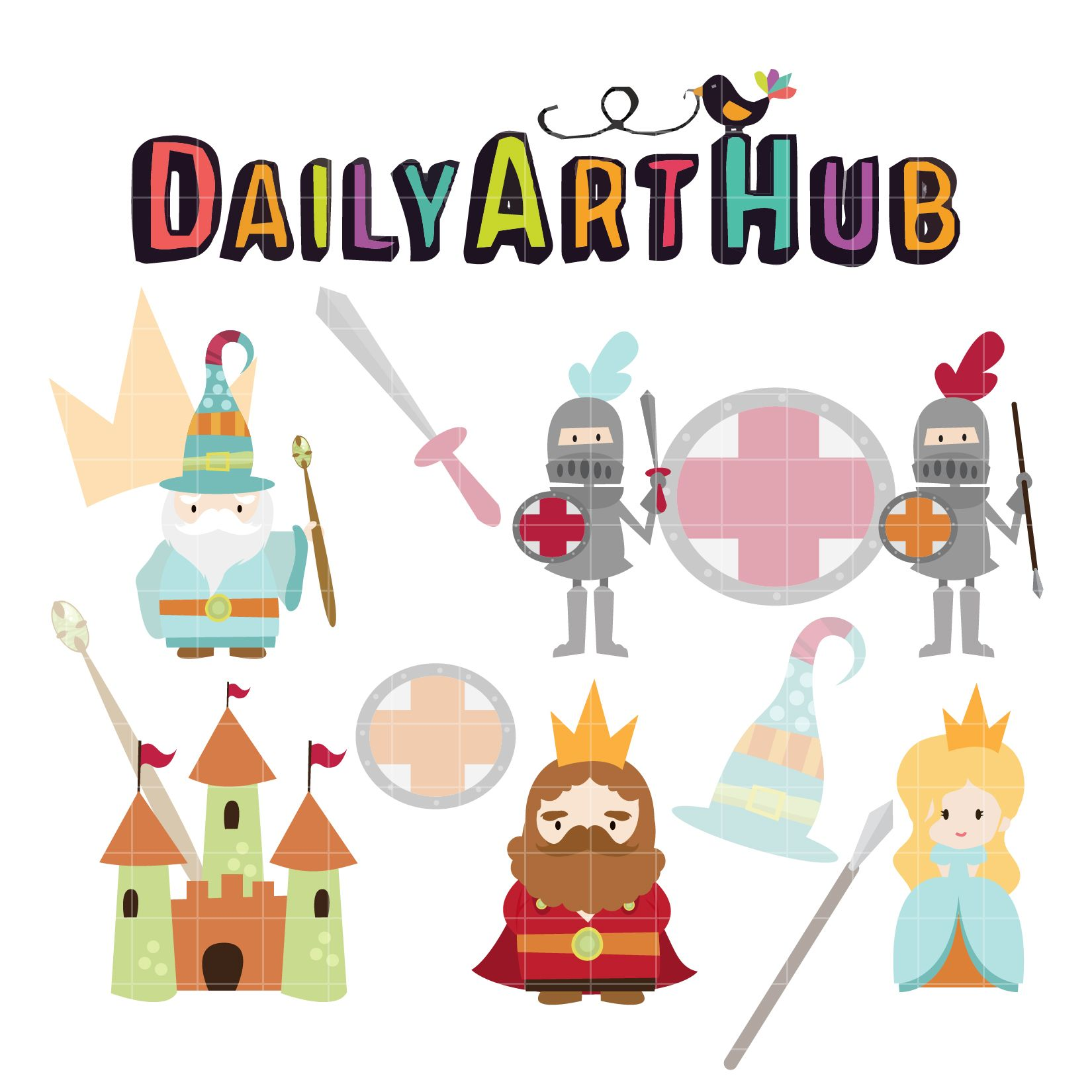 Cute Fantasy Characters Clip Art Set Daily Art Hub Free Clip Art Everyday Art Hub Art Set Fantasy Characters