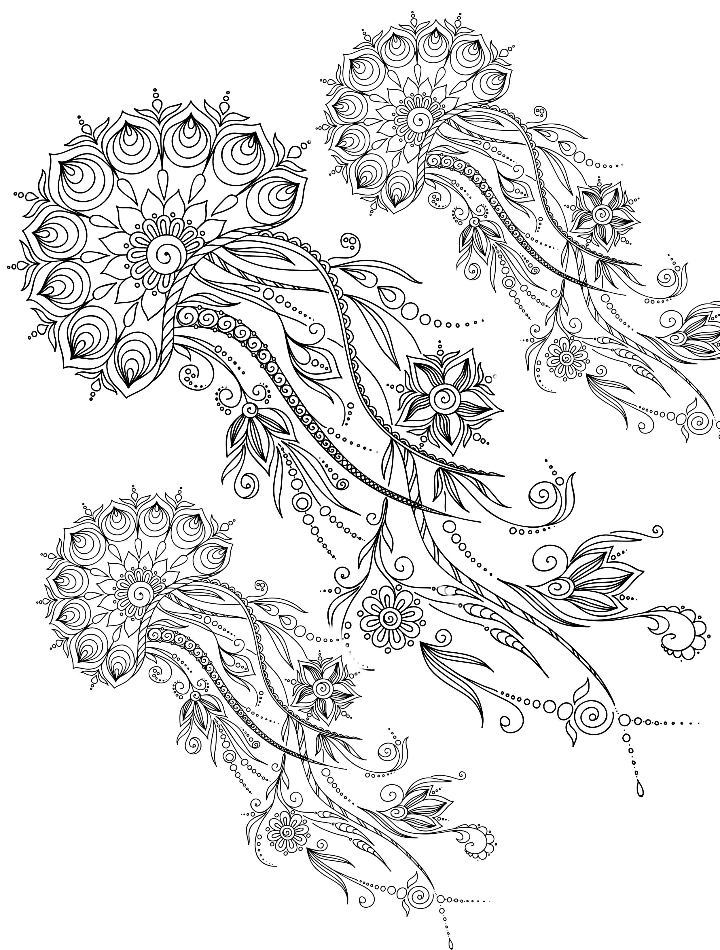 20 Gorgeous Free Printable Adult Coloring Pages | Modell | Pinterest ...