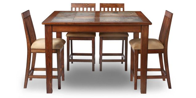 Outstanding Oak Express Aspen 5 Pc Counter Height Dining Group D5 Pdpeps Interior Chair Design Pdpepsorg