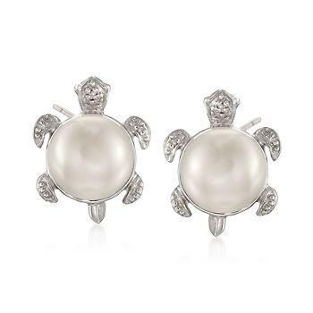 Diamond Turtle Earrings Topearrings