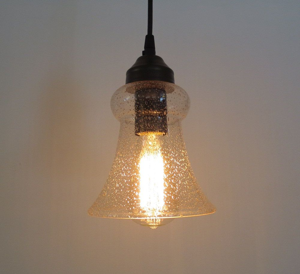 Kelliport Vintage Seeded Glass Pendant Light By LampGoods On Etsy, $79.00