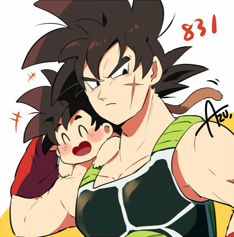 Bardock and baby Goku | Ultimate Dad Off | Pinterest ...