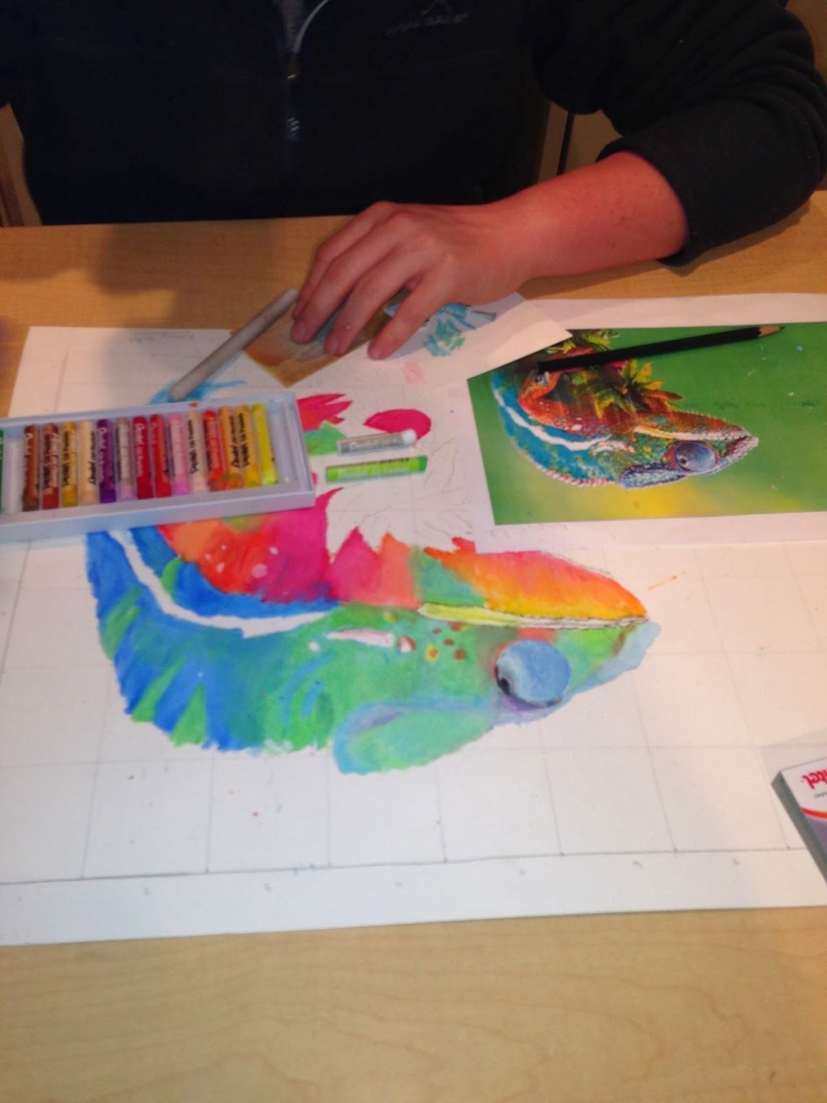 Oil Pastel Animals Blog Post A Space To Create