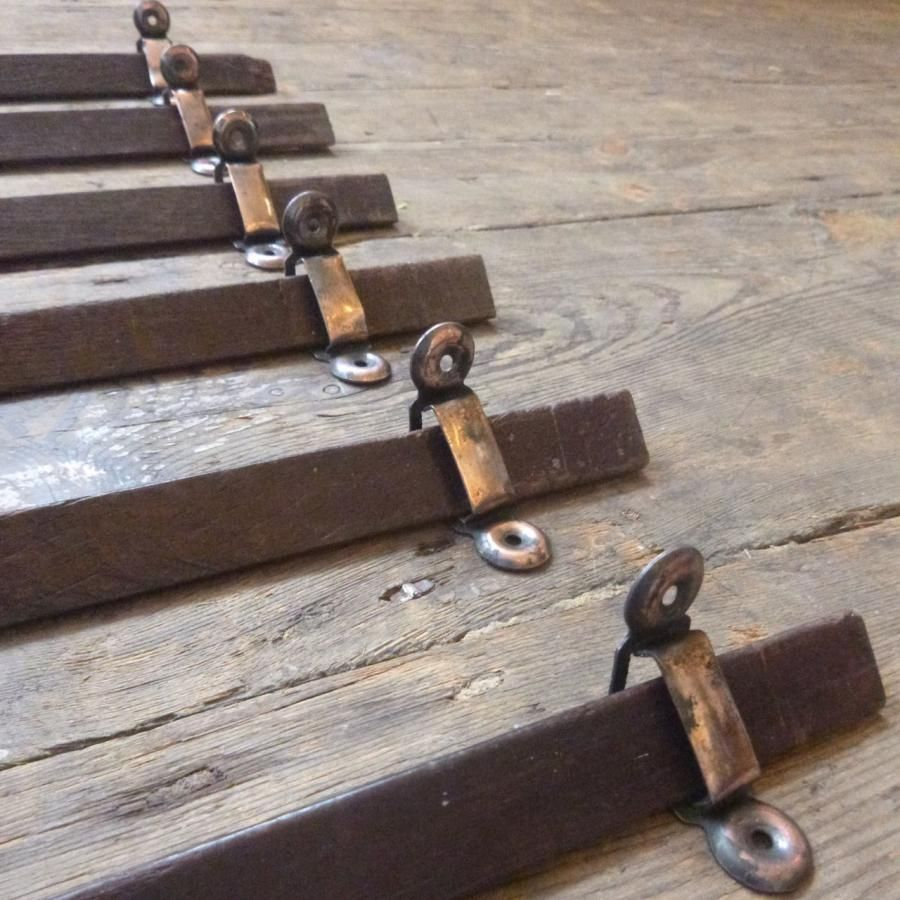 Original Vintage Oak Stair Rods