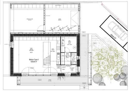 Maison passive nord plan RdcJPG Architecture - Passive Home Plans