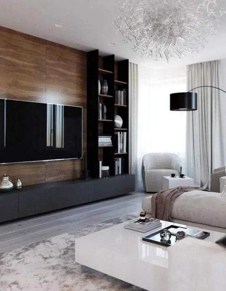 How To Build A Floating Wall For Your Tv Tv Units Tv Units Tv Wall Units Minimalist Living Roo Living Room Design Modern Cozy Living Room Design Tv Room Design
