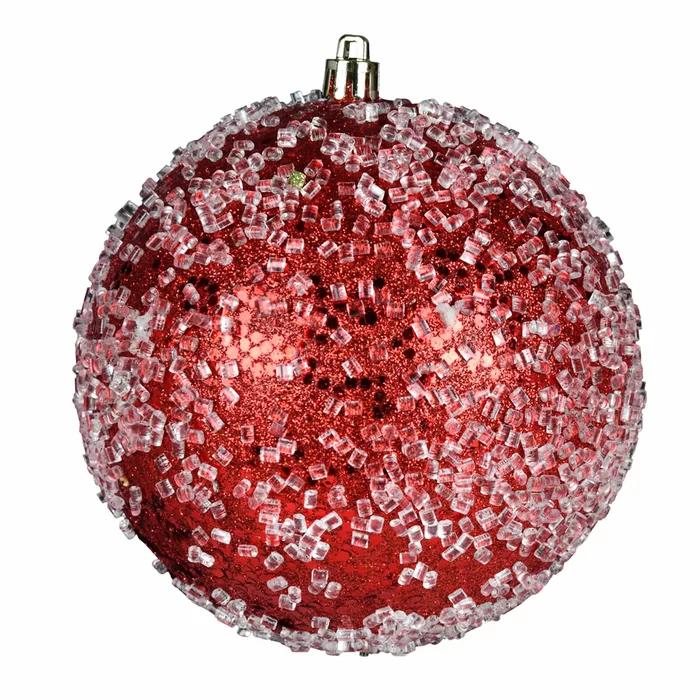 Glitter Hail Ball Ornament Glass Ball Ornaments Ball Ornaments Red Ornaments