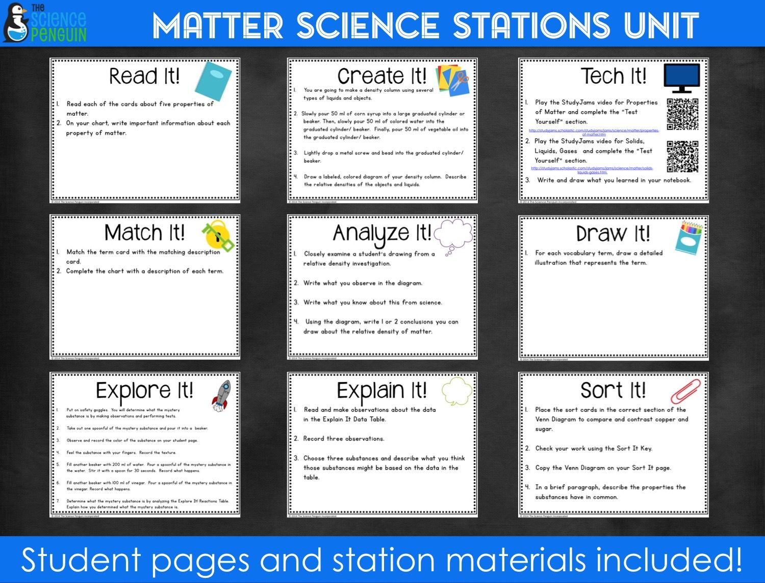 Properties Of Matter Stations A Big Science Stations Unit