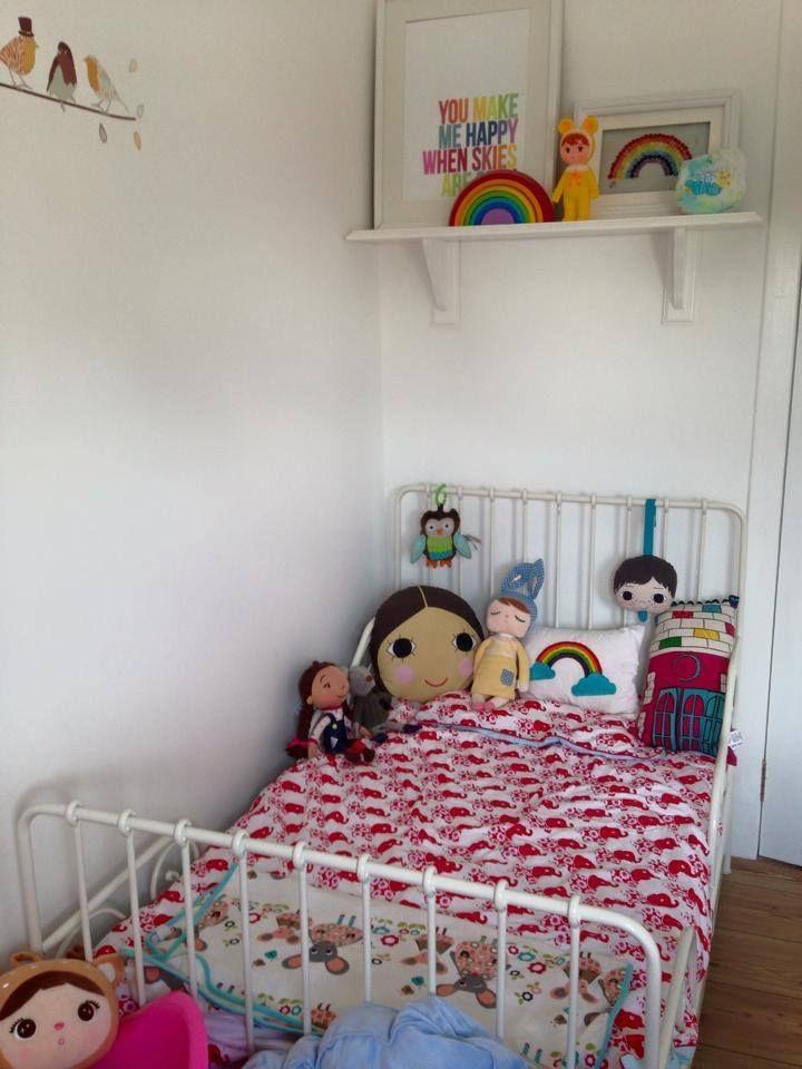 Retro Kids Room Scandinavian Inspiration Zebra Cushions Ikea Minnen Bed Blare Bedding