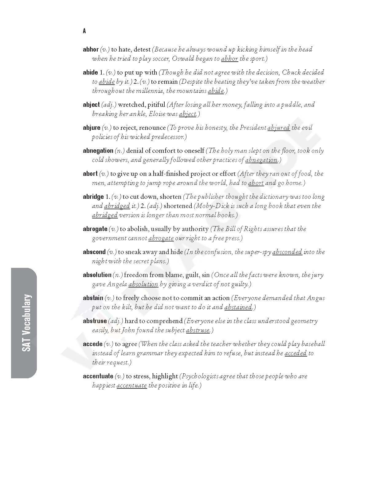 Free Printable Sat Vocabulary Worksheets Learning How To
