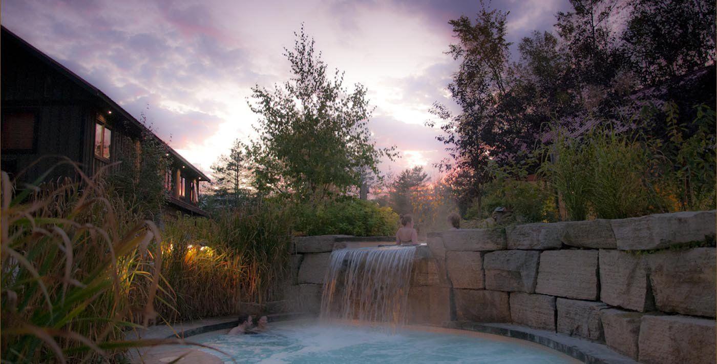 Scandinave Spa Blue Mountain Scandinavian Baths Day Resort Spa Outdoor Spa Scandinavian Baths Resort