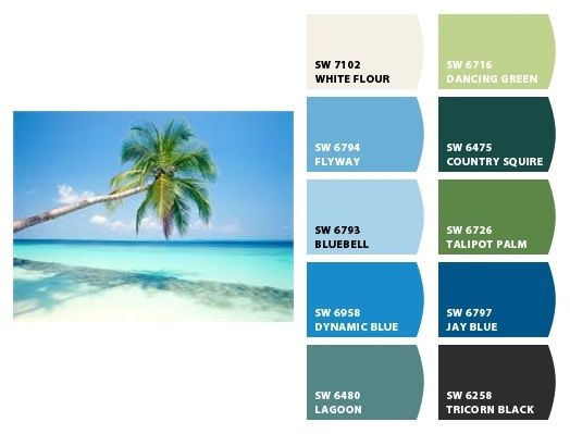 Key West Colors | Key West Color Scheme | Home Decor DIY