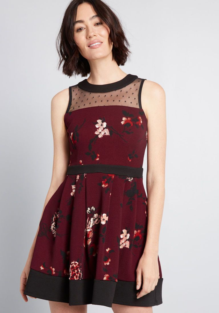 318e44b2ad Just the Sway You Are A-Line Dress in 4X - Sleeveless Fit & Flare Mini by Smak  Parlour from ModCloth