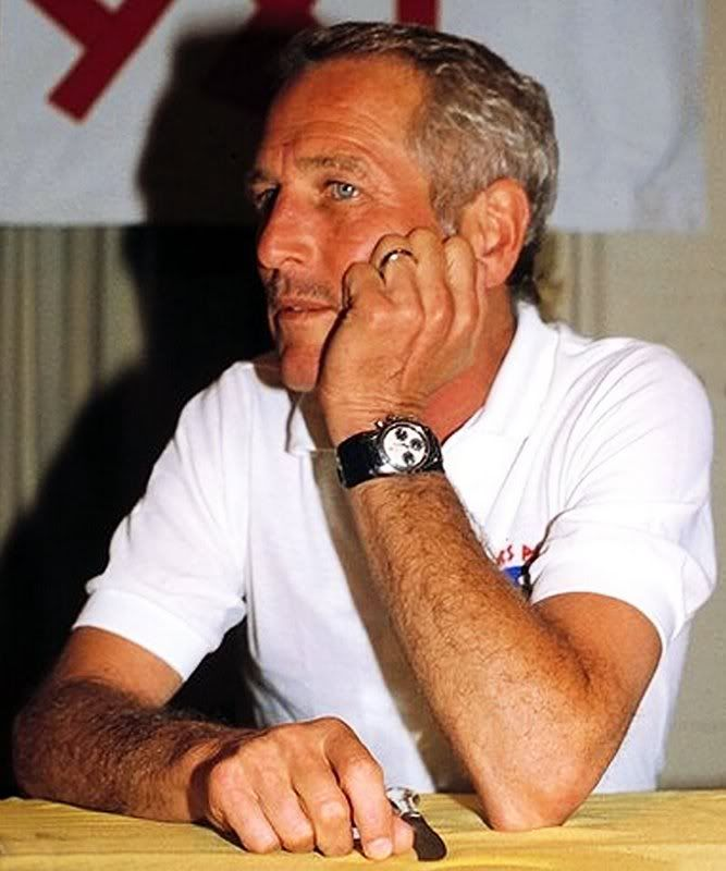 Paul Newman With Panda Dial Rolex Daytona On Bund Strap Rolex In