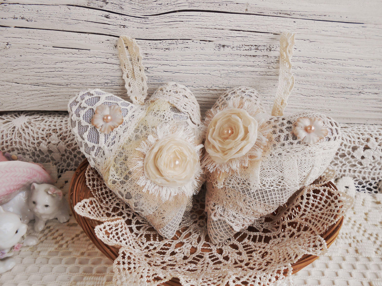 Two hearts, shabby chic, lace heart, shabby heart,