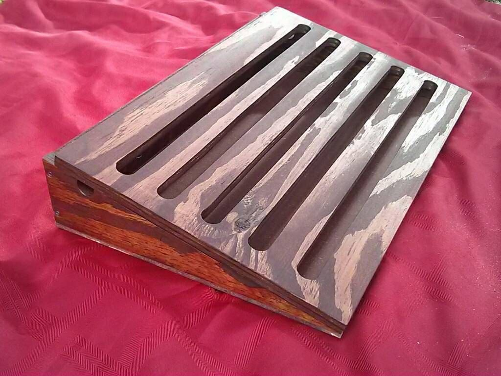 Custom Handmade Guitar Pedal Board Made from Recycled Wood ...