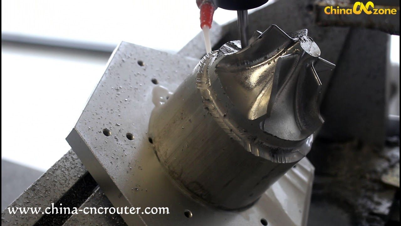 5 Axis Cnc Machine For Aluminum Impeller Engraving