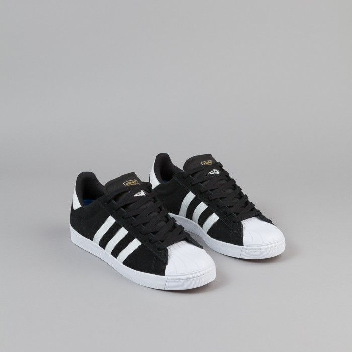 7b24097d88e Adidas Superstar Vulc Adv Shoes - Core Black / FTWR White / Metallic Gold