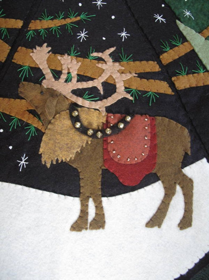 Starry Night Full Size Christmas Tree Skirt Kit By Etsy