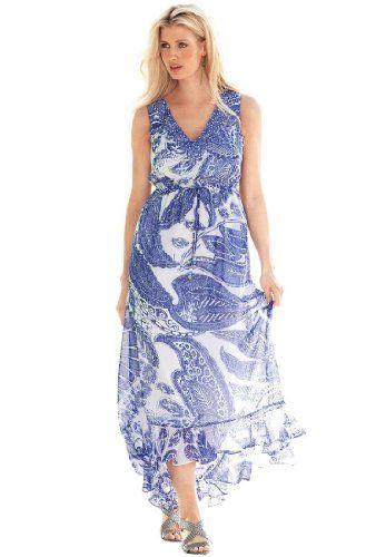 Amazon.com: Jessica London Women\'s Plus Size Beaded High-Low ...