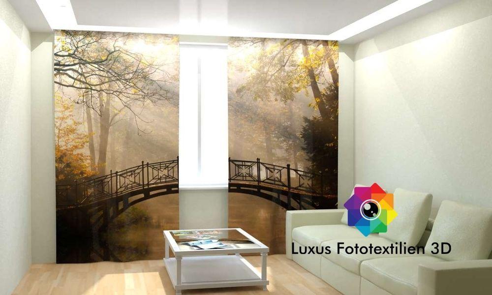 Fotogardinen 3D  - gardinen vorh nge wohnzimmer