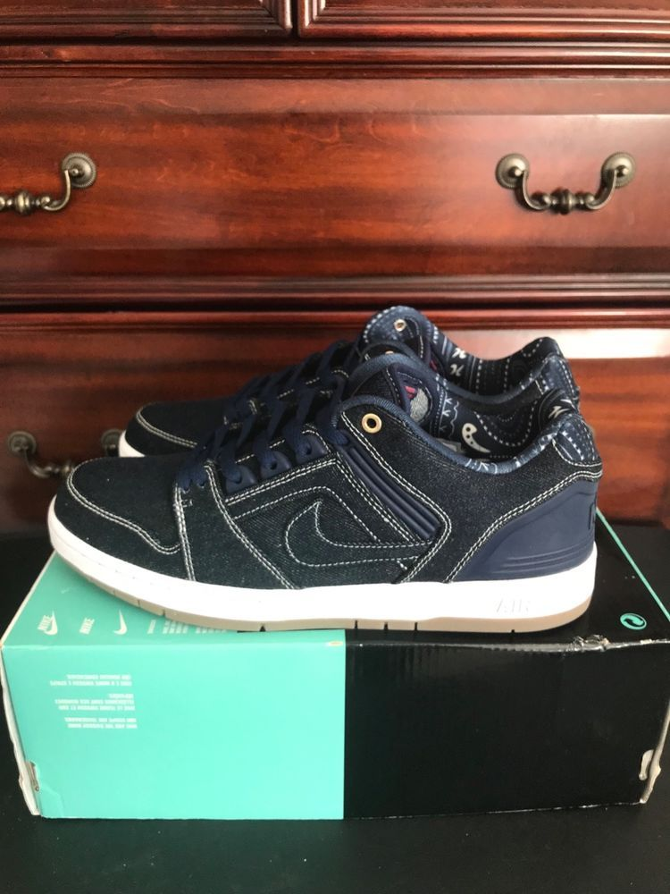 cobertura justa asesinato  AO0298 441 NIKE SB AIR FORCE II LOW QS BLUE DENIM EAST WEST BIGGIE TUPAC  9.5 #fashion #clothing #shoes #accessories #mensshoes… | Athletic shoes,  Men s shoes, Shoes