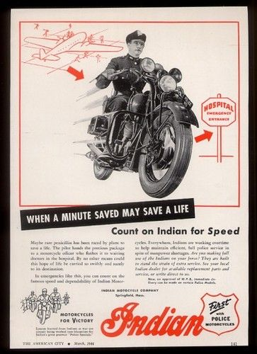 MAGNET Motorcycle Ad PHOTO MAGNET Indian Motorcycle