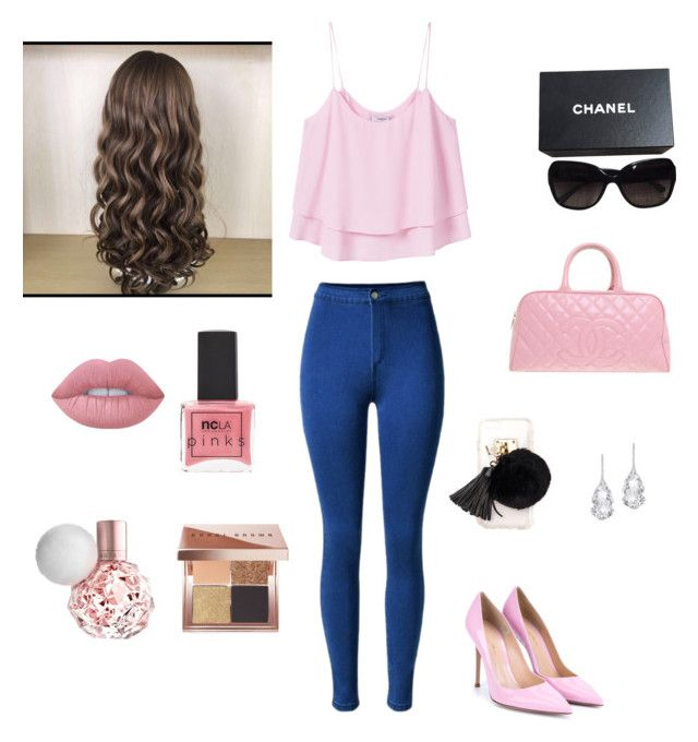 """""""Untitled #35"""" by jaidazyork on Polyvore featuring MANGO, Gianvito Rossi, Chanel, Ashlyn'd, Plukka, ncLA, Lime Crime and Bobbi Brown Cosmetics"""