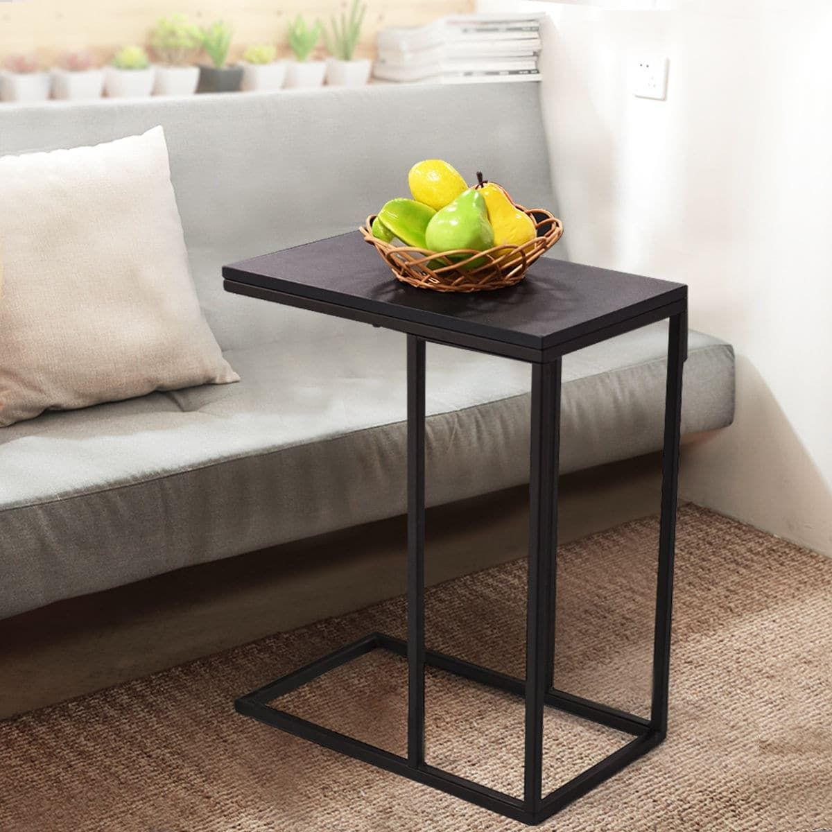 Costway Coffee Tray Sofa Side End Table Ottoman Couch Console Stand ...