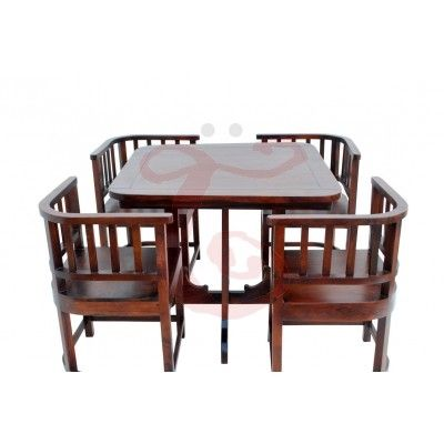 4 Seater Nested Dining Set Dinning Table Design Wooden Dining