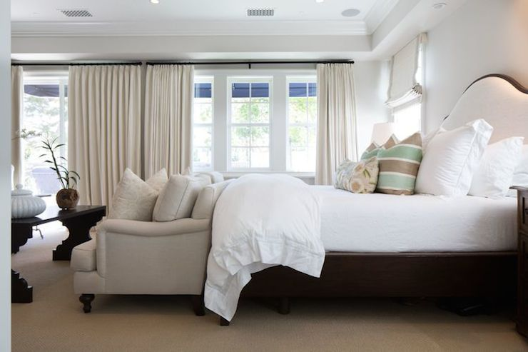 Sofa At Foot Of Bed Adds Another Seating Element Rather Than