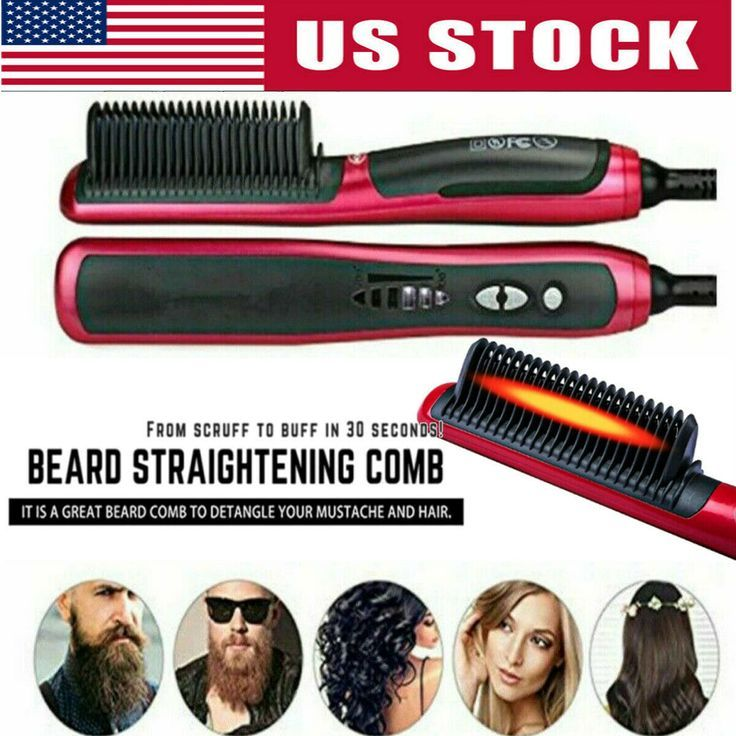 Men Heated Beard Straightener Brush Multifunktionshaarkamm Curling Show Cap $ 15.99 #haar #bürste #straightener