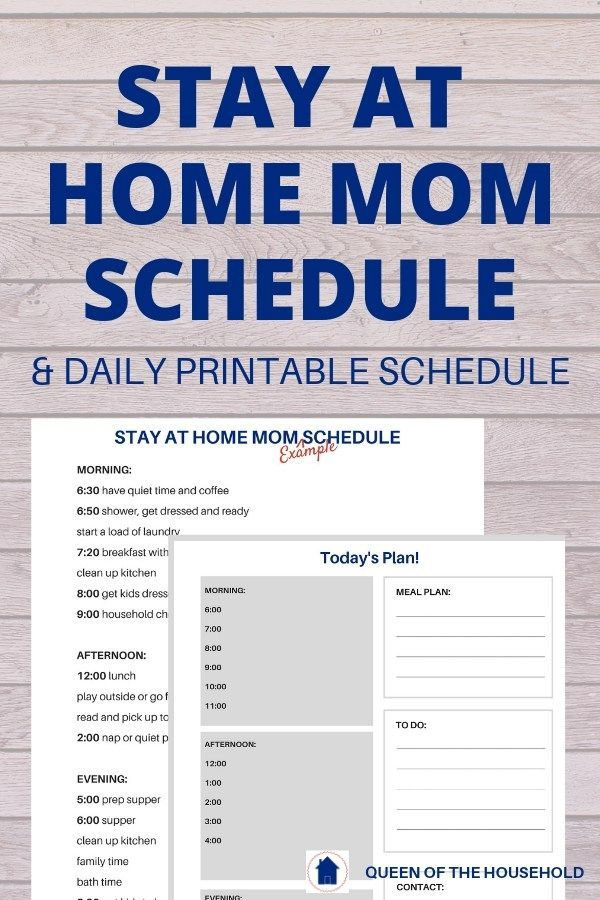 4 Easy Steps to the Perfect Daily Schedule for Stay-At-Home-Moms