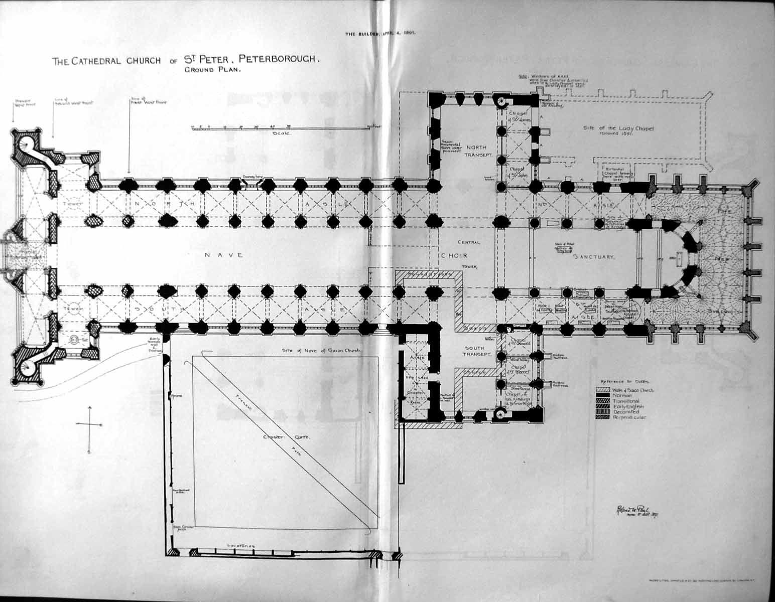 Peterborough Cathedral: Plan; Photo Via Http://www.antiqueprints Maps