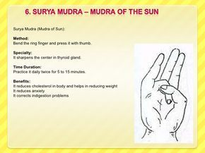 mudra of sun  google search starting to get confusing