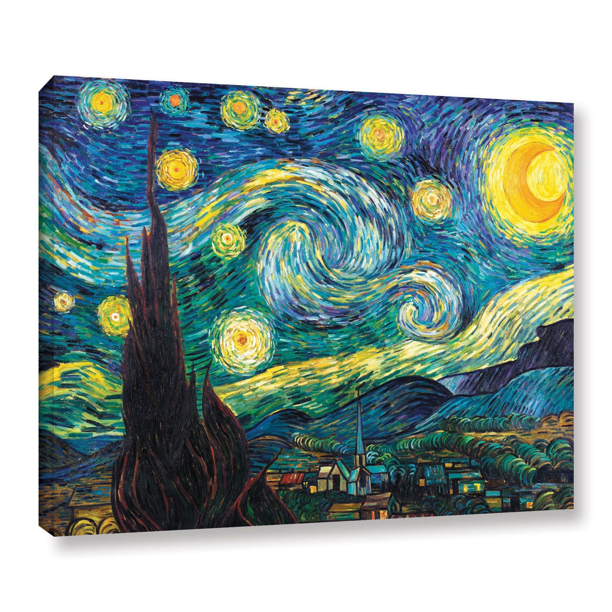 Artwall Vincent Van Gogh Starry Night Wrapped Canvas (18 X