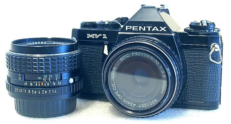 Pentax Mv1 Pentax Slr Film Camera Lens Aperture