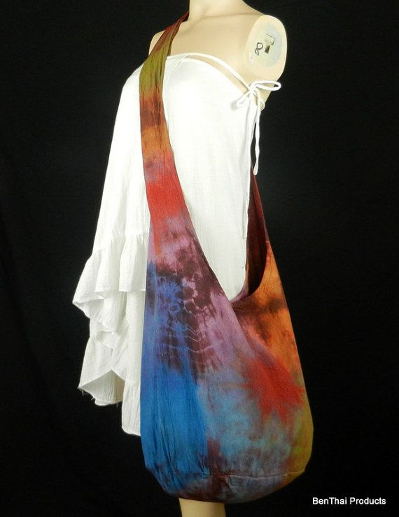 Tie Dye Sling Bag Purse Crossbody Hobo Hippie by BenThaiProducts, $15.99